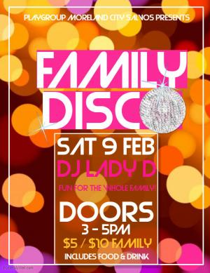 FAMILY DISCO FUNDRAISER!