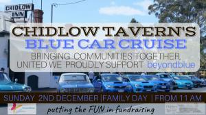 Chidlow Taverns Blue Car Cruise - Proudly supporting beyondblue