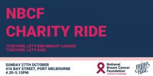 Bodhi & Ride: CHARITY RIDE FOR NBCF