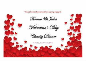 Romeo & Juliet Valentines Day Charity Dinner