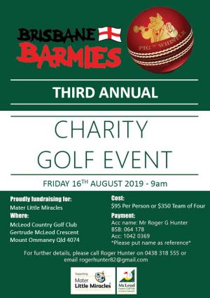 Brisbane Barmies Golf Day