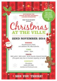 Christmas at the Ville event flyer.