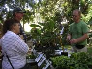 Peter Grady discussing the finer points of orchid growing