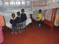 Our new beds and blankets for our orphans.