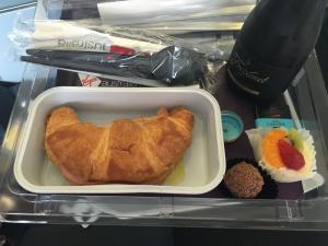 Scrumptious breakfast on the plane