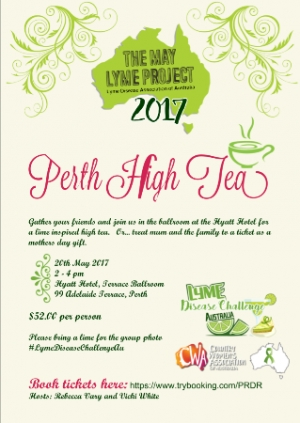 May 20 Perth High Tea for Lyme Disease