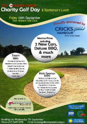 Sept 9 2016 Compass Institute Charity Golf Day - Twin Waters QLD