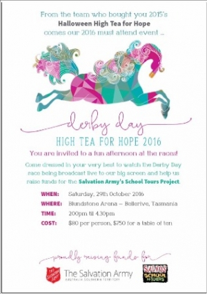 Oct 29 - Ultimate High Tea for Hope - Bellerive TAS