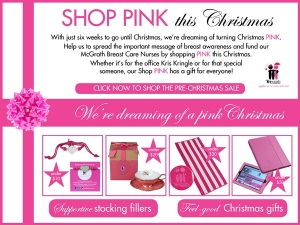 Shop Pink This Christmas - Support the McGrath Foundation
