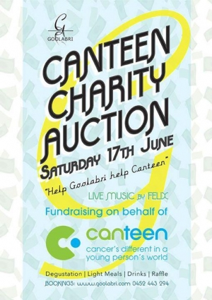 June 17 Goolabri Canteen Charity Auction - Sutton NSW