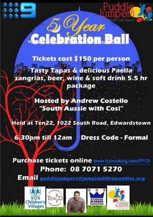 Jul 1 Puddle Jumpers 5th Anniversary Ball - Adelaide