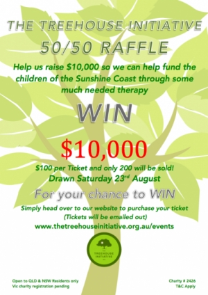 Support The Treehouse Initiative 50/50 Raffle