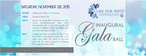 Support Nov 28 CURE FOR MND FOUNDATION INAUGURAL GALA BALL - Melbourne