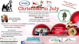 July 28 Queen of Hearts Foundation Christmas In July At The Races - Emu Plains NSW