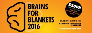 August 6 300 Blankets Trivia Night - Brains for Blankets 2016 - Flemington Melbourne
