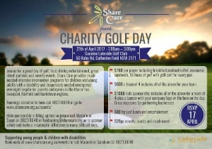 Apr 27 Share Care Charity Golf Day - Catherine Field