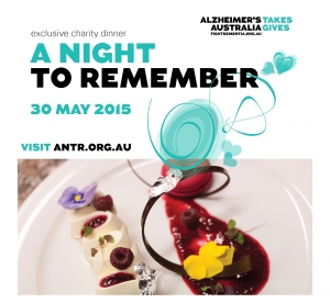 Support A Night to Remember Dinner May 30 for Alzheimer's Australia VIC