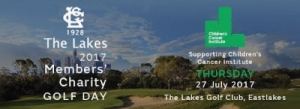 July 27 The Lakes 2017 Members Charity Golf Day in Aid of Childrens Cancer Institute - Sydney