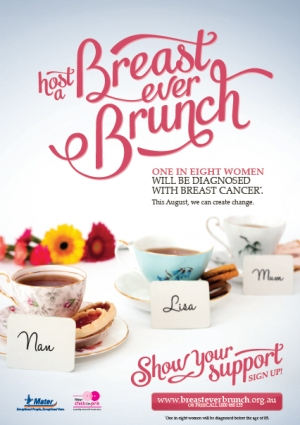 Host a Breast Ever Brunch - Mater Chicks in Pink