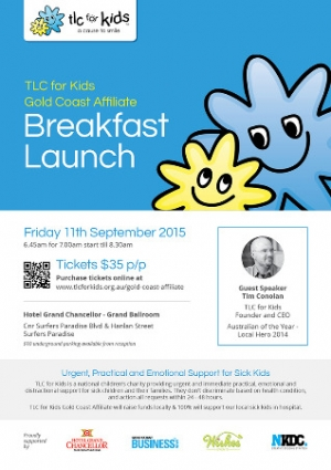 September 11 TLC For Kids Gold Coast Affliate Breakfast Launch