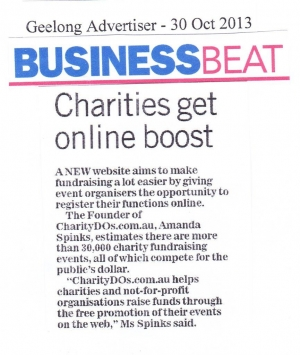 CharityDOs in Geelong Advertiser