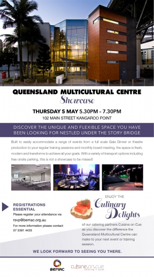 Brisbane Fundraising Event Venue - Queensland Multicultural Centre