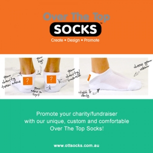 Promote Your Charity With Over The Top Socks!