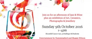 Oct 9 - Jazz, Shiraz And Art Fundraiser for Bloomhill Cancer Care - Sunshine Coast