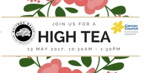 May 13 High Tea Fundraiser for Cancer Council NSW - Duckenfield NSW