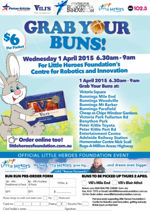 Grab Your Buns for Little Heroes Foundation - Across Adelaide