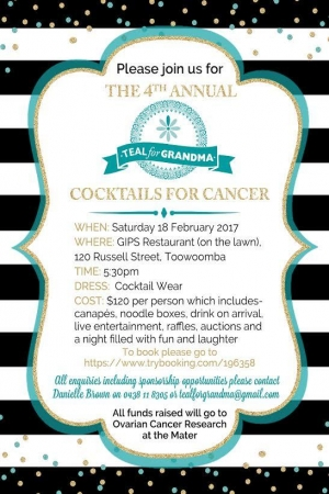 Feb 18 - Teal for Grandma Cocktails for Cancer - Toowoomba QLD