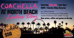 Jul 15 North Beach Football Club 2017 Coachella at North Beach Ladies Day