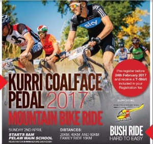Apr 2 - Kurri Coalface Pedal 2017 Mountain Bike Ride - Kurri Kurri NSW