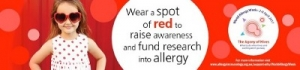 Apr 2-8 Wear a Spot of Red for World Allergy Week