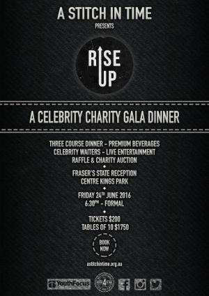 June 24 #RiseUp Celebrity Charity Gala Dinner - West Perth