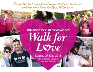 May 27 The Mary Potter Foundation's Walk for Love - North Adelaide