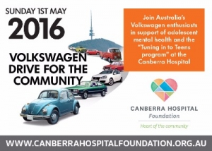 May 1 Support Volkswagen Drive for the Community 2016 for Canberra Hospital