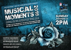 Nov 27 Musical Moments 2016 Concert & Appeal Fundraiser - Newstead TAS