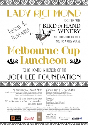 Support The Jodie Lee Foundation Adelaide Melbourne Cup Luncheon