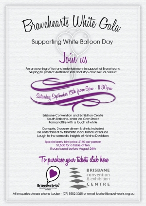 Support Bravehearts White Gala